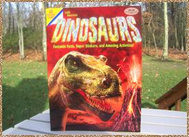 Click here for a larger picture of the front & inside of the Dinosaur book