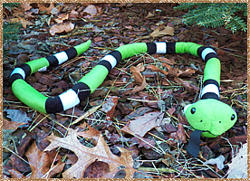 Click here for a larger picture of the large plush snake